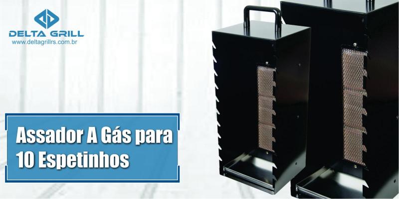 Ver artigo Assador a gás para espetinhos, com capacidade para 10 espetinhos