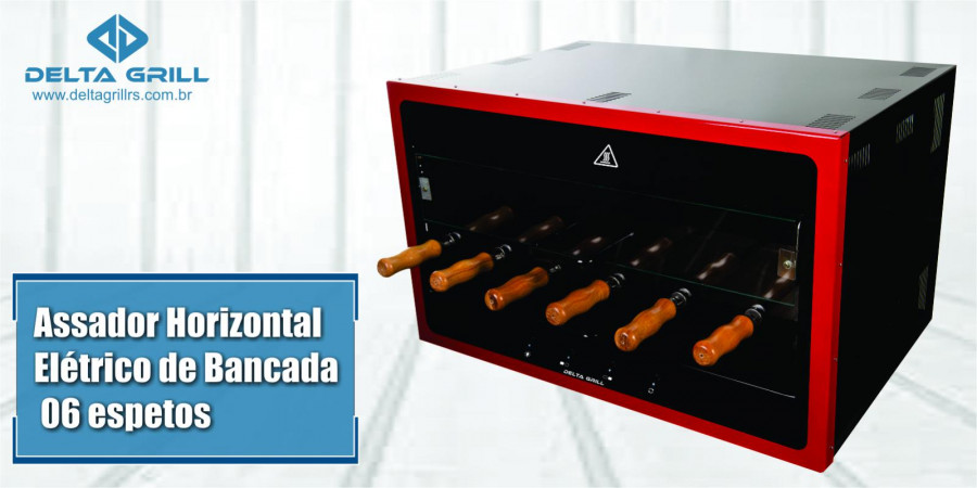 Ver artigo Assador de bancada horizontal elétrico, com capacidade para 06 espetos